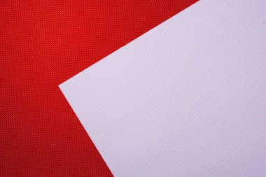 Top view of red and white dotted papers for background stock vector
