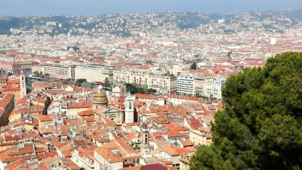 Panoramic view of the Bay of Angels and the city of Nice.