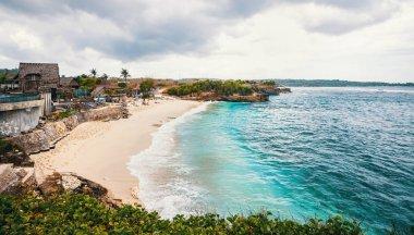 Beautiful Dream Beach on Nusa Lembongan island near Bali, Indonesia. Toned image.