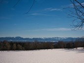 Fotografie Mountains and Lake Starnberg in winter