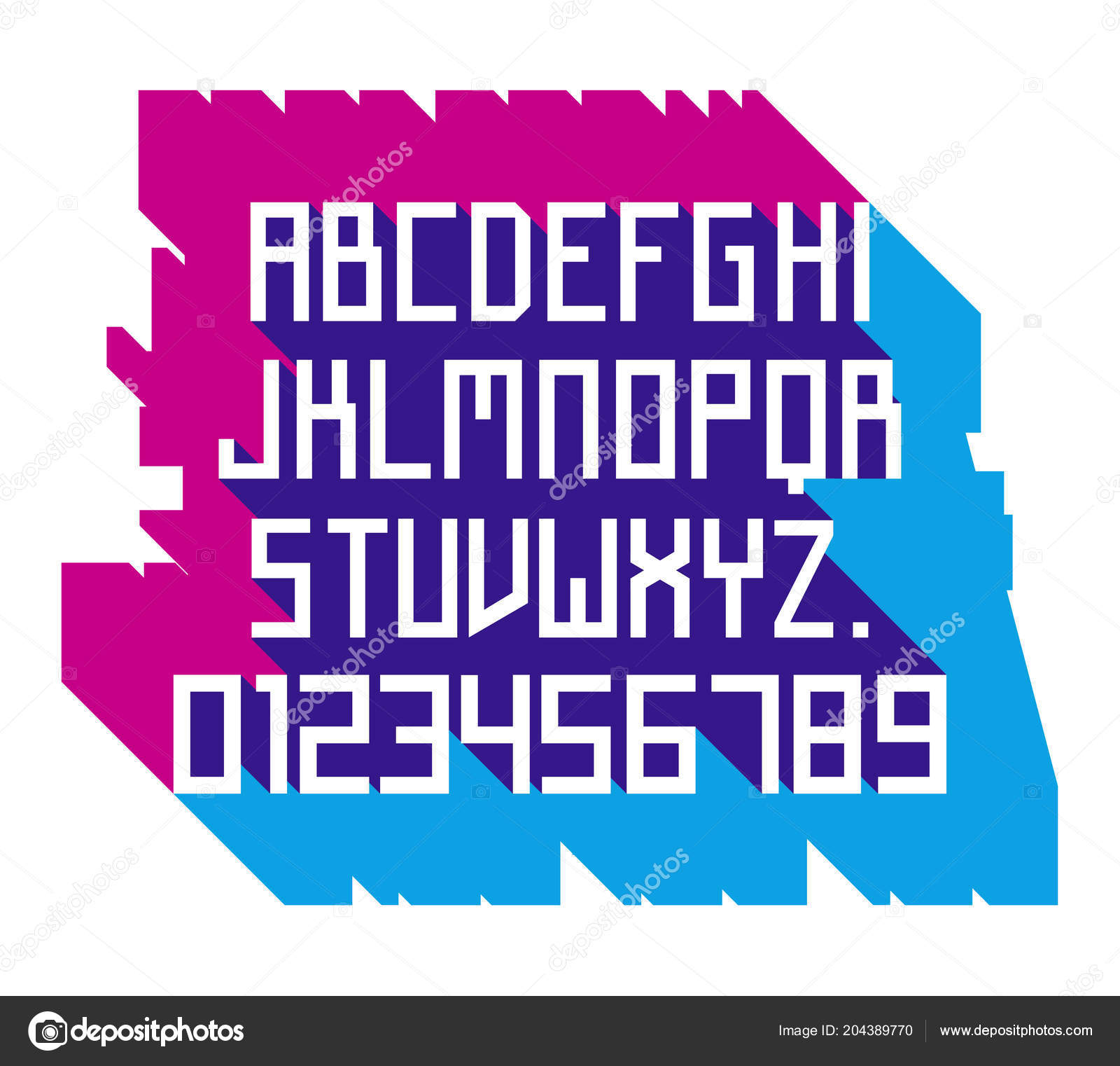 Vector Font Simple Alphabet Russian Constructivism Style Futuristic Stock
