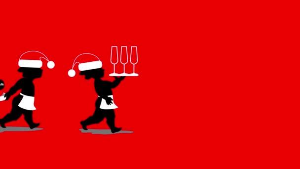 Animace, andělů, přičemž šampaňské, brýle a selat na Silvestra. Rok vepře