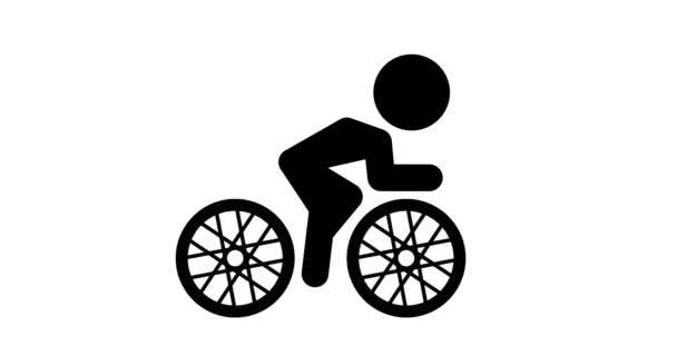 Animáció ikon kerékpározás.