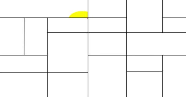 Animáció a geometriai színes varrat nélküli mintát. Mondrian stílus.