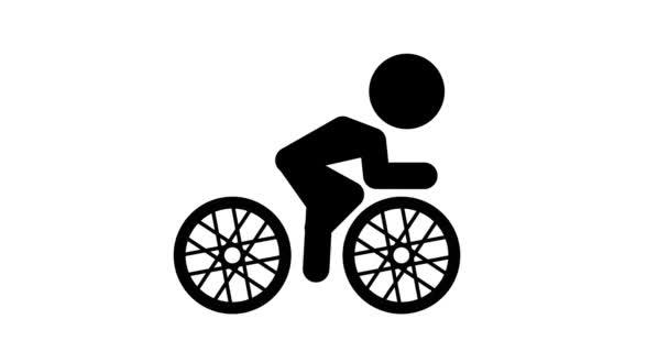 Animation der Ikone Radfahren.