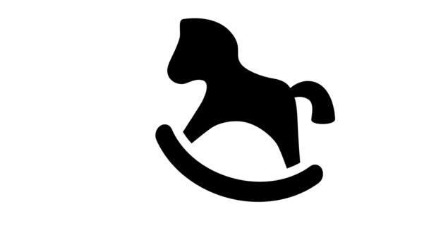 Animáció játék ló lengő ikon.