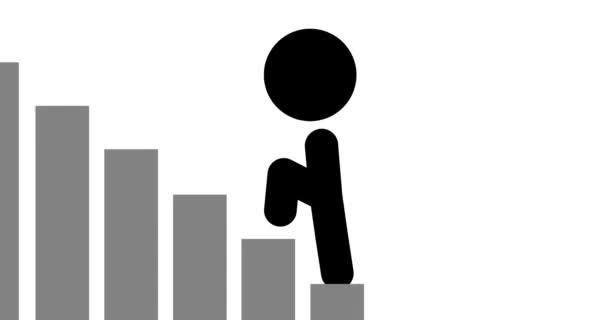 Schleifenanimation des Icons, das nach oben geht