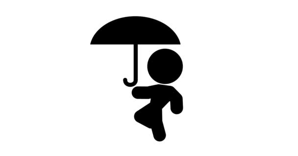 Hurok animáció ikon megy esernyő