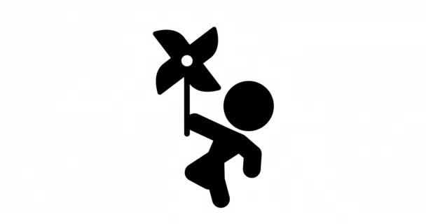 Hurok animáció ikon, pinwheel