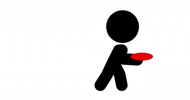 Animation des Frisbee-Wurfs.