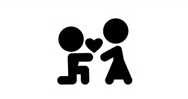 2d animáció családi ikonok lapos design