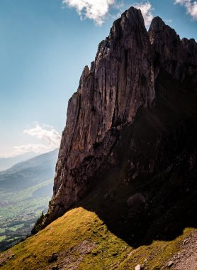 """Картина, постер, плакат, фотообои """"вертикальные сумасшедший крутые горные скальное образование, Швейцария"""", артикул 214150938"""