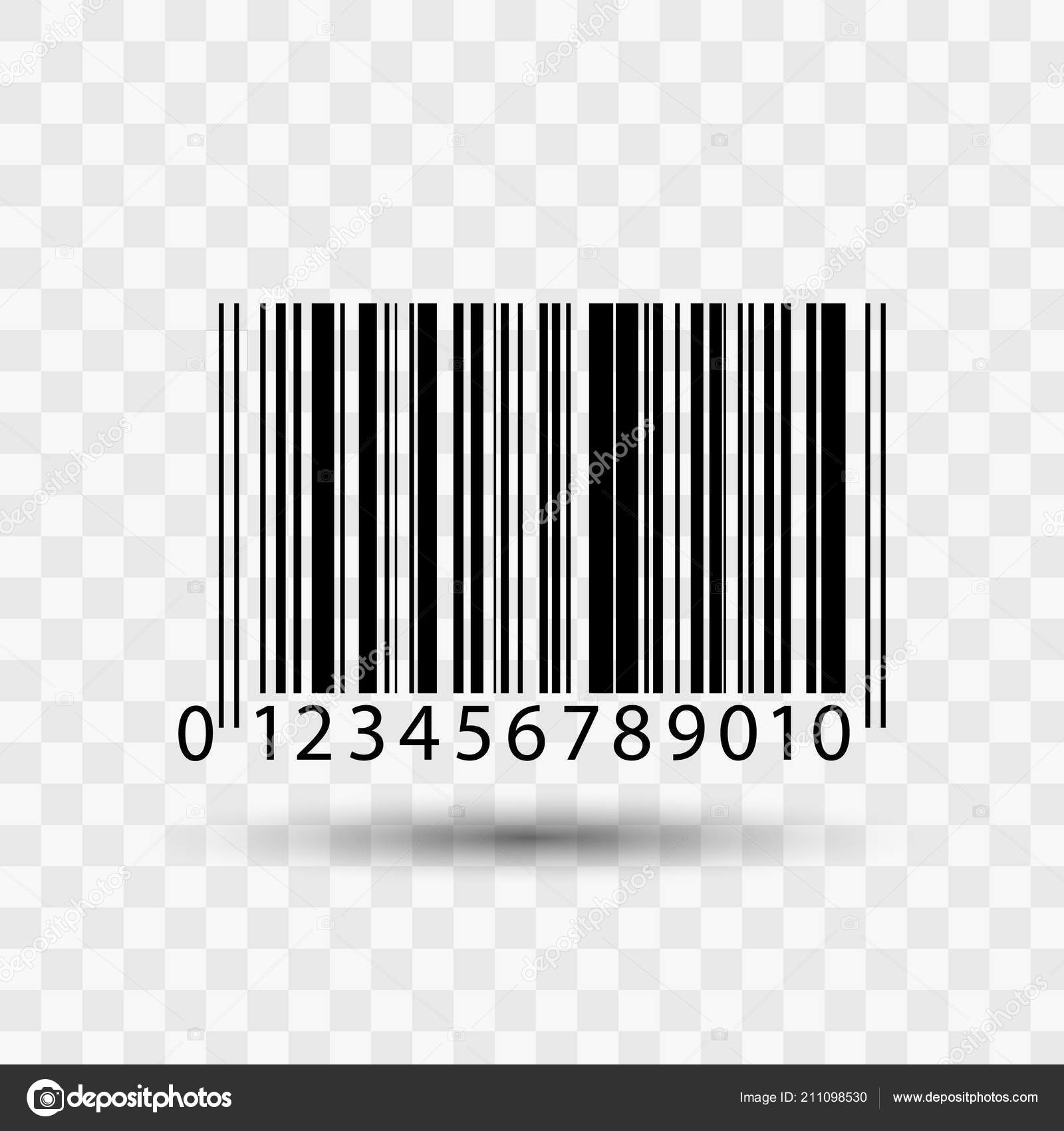 barcode isolated on transparent background stock vector