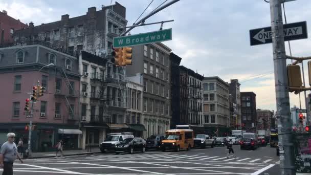 Broadway street v new Yorku přechod