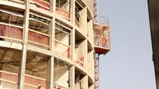 construction site elevator building