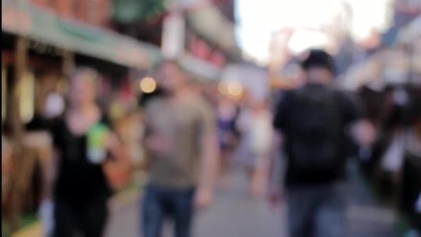 market city people blur bokeh