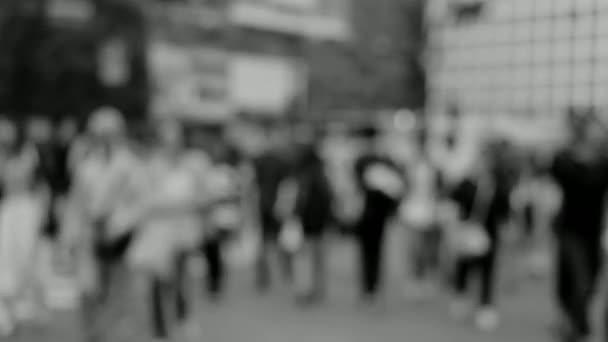 people crowd many bokeh blur