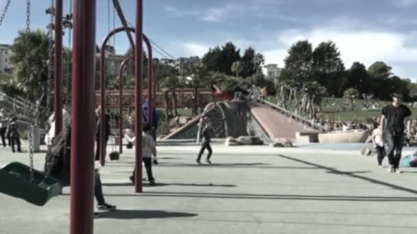 swinging playground kids swing