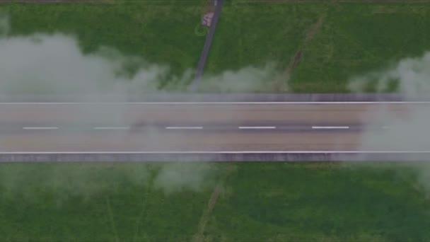 Straße wolkig Nebel Nebel