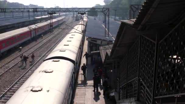 video of train railway station