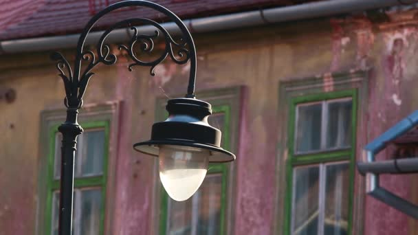 Old style street light Old style street light City vintage lantern City street eastern european country Ancient places to visit Architerture of Europe Street light building background