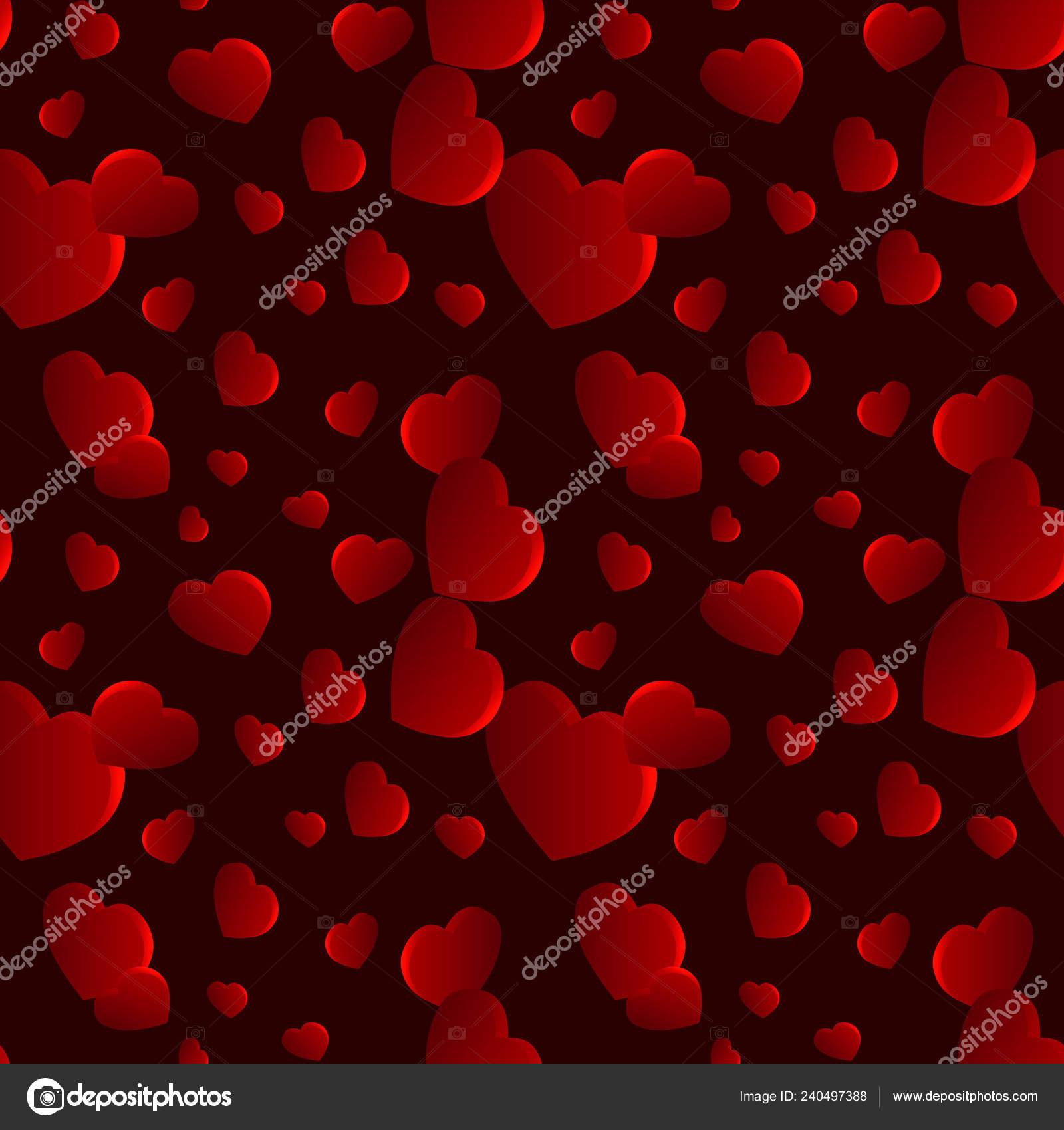 Valentines Day Heart Seamless Pattern Dark Background Valentines Day Background Vector Image By C Kseniiag Vector Stock 240497388