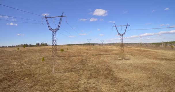 Towers with wires