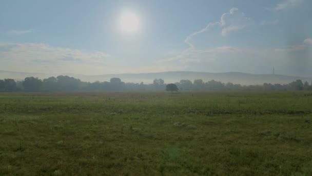 Ranní mlha v horách