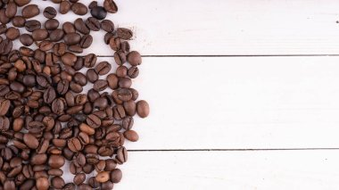Texture of coffee beans. You can apply for coffee wallpaper coffee with text and everything about coffee background concept.