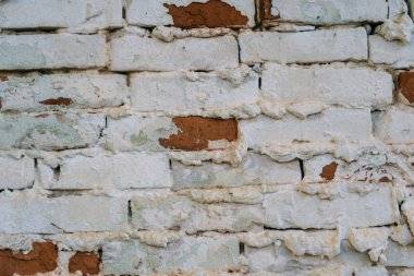 A texture background of white brick wall