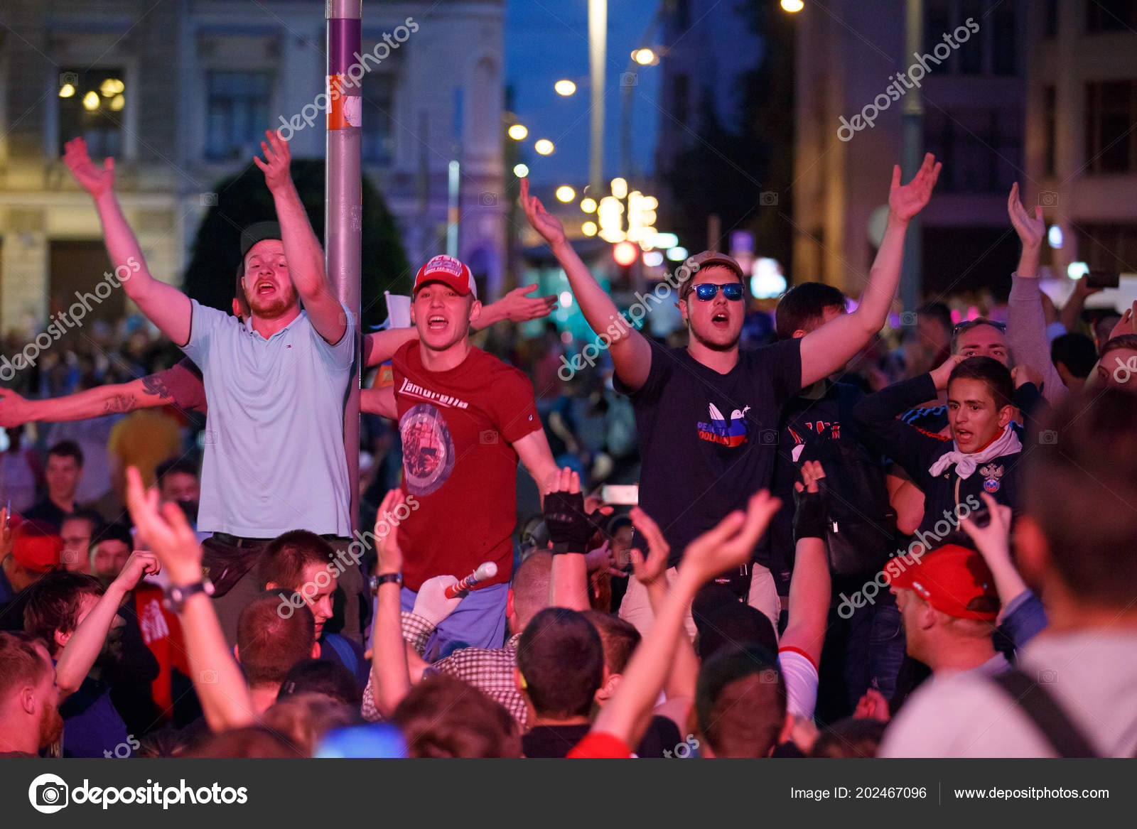 Moscow Russia July 2018 Football World Cup 2018 Russian Football