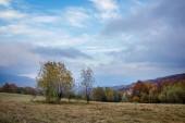 Landscape with autumn season in Bieszczady mountains, Podkarpack