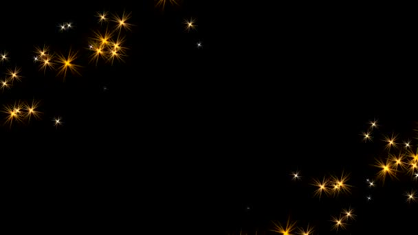 Sparkly border frame animation with copy space