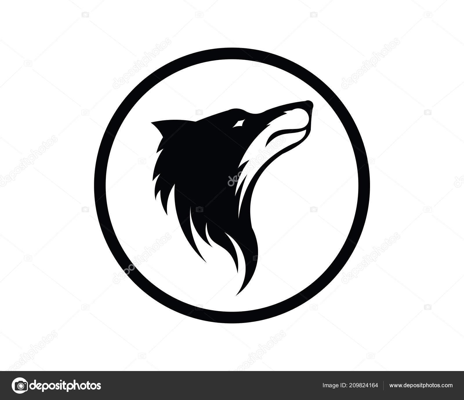 silhueta lobo logotipo vetor vida selvagem lobo selvagem ilustração