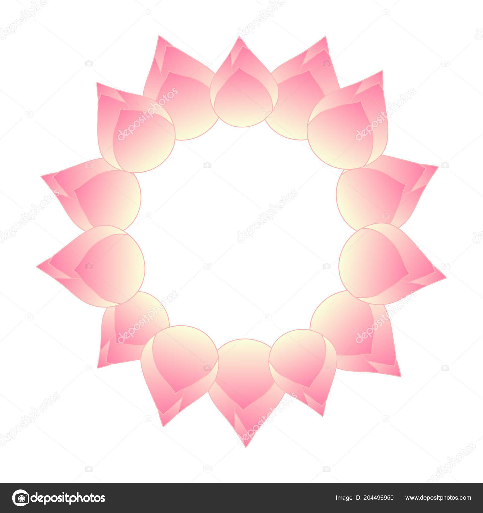 Pink Bud Indian Lotus Wreath Nelumbo Nucifera Sacred Lotus Bean