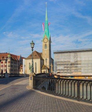 Munsterbrucke bridge in the city of Zurich, Switzerland