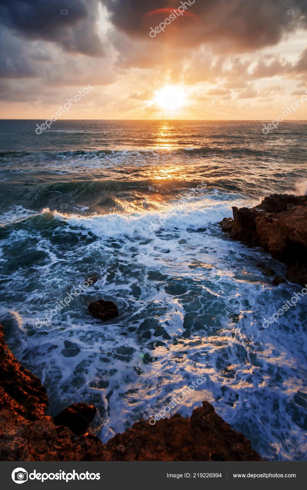 Beautiful Ocean Wallpaper Bright Beautiful Sunset Sea