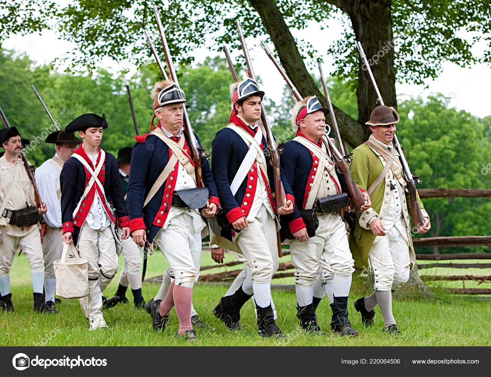 Annual Reenactment Battle Monmouth Revolutionary War