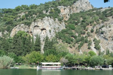 The Royal Tombs invite the visitor to visit the history pages and take them to a different world. Fethiye, Turkey