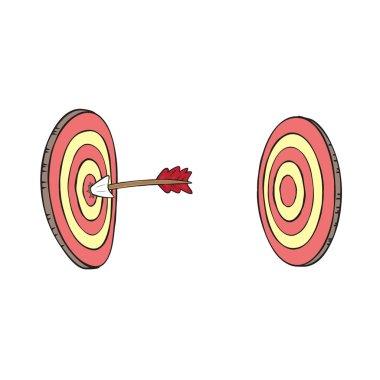 Arrow and the aim clipart illustration vector