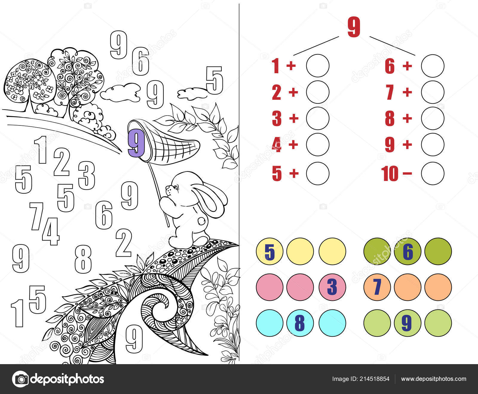 Ilustración Para Libros Educativos Tarea Matemáticas Rompecabezas