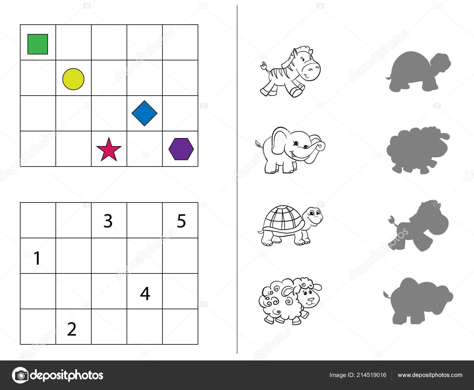 Rompecabezas Para Niños Matemáticas Ilustración Para Libros