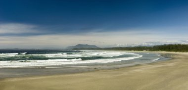 Sunny day at Wickaninnish Beach, Vancouver Island, British Columbia, Canada.