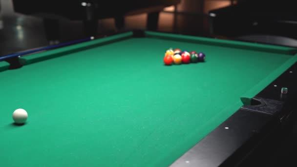 Billiard balls beautifully slide in the parties