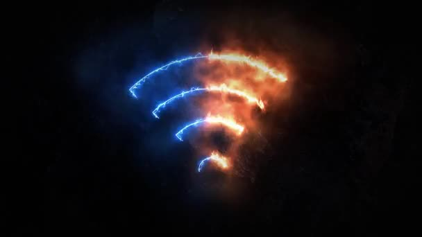 WiFi electromagnetic signal. wifi connection 24.