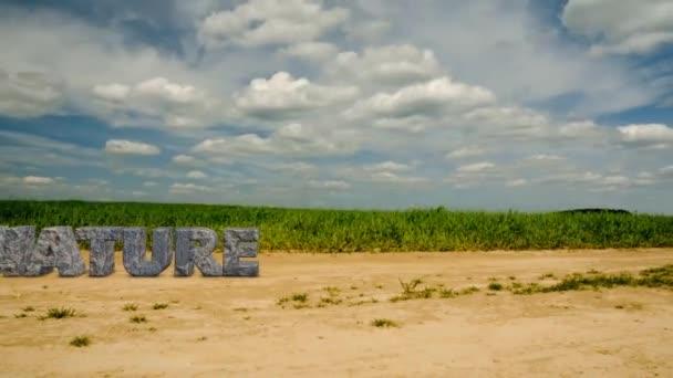 Kamenný nápis přírody. Chraňte životní prostředí. 47