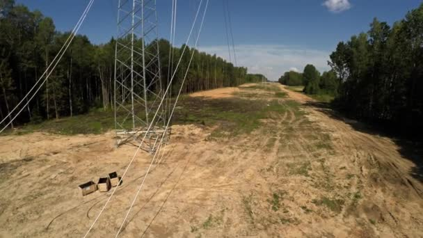 Installing transmission lines. Electricity. Power lines. 96.