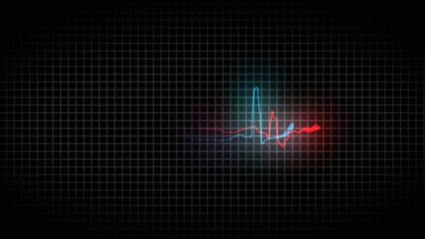 Beteg és egészséges cardiogram olvasmányok a szív. EKG. Egészséges és beteg szív 37