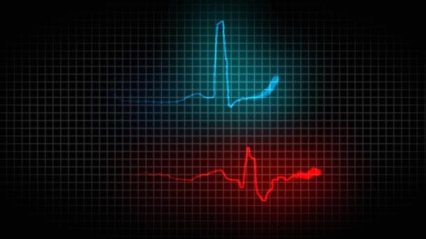 Nemocné a zdravé kardiogram čtení srdce. EKG. Zdravé a nemocné srdce 38