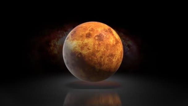 Nastavte Venuše planeta galaxie. Planeta Venuše na pozadí galaxie 120